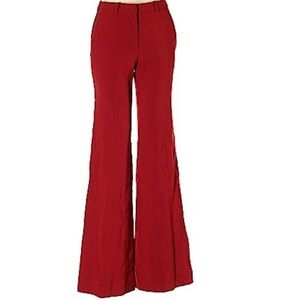 Dark red dress pants